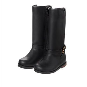 Gymboree girls black tall buckle boots